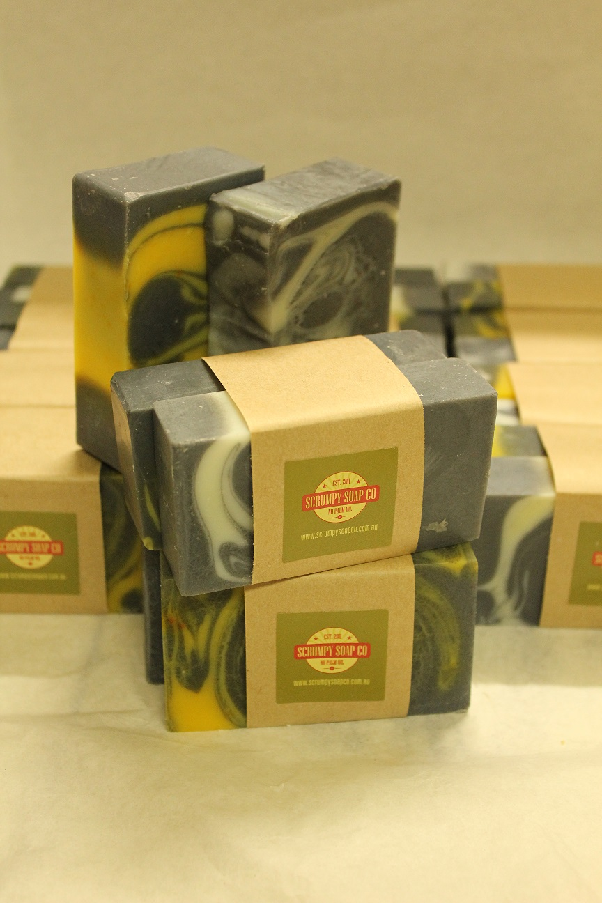 A range of home made natural soaps to buy online - Scrumpy